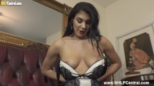 Hot Big Tits Babe Roxy Mendez Toys Tight Pussy In Sexy Panties Stockings And Stilettos