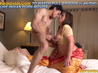 Big titties sweltering Stepmom appreciates ass fuck sex with young son