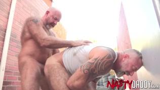 Hairy Daddy Raw Fucks Mature Gay Stud