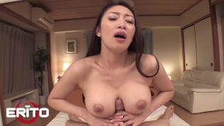 Erito – Horny Guy Fucks The Huge Tits Of A Beautiful Japanese Milf And Cums All OverThem