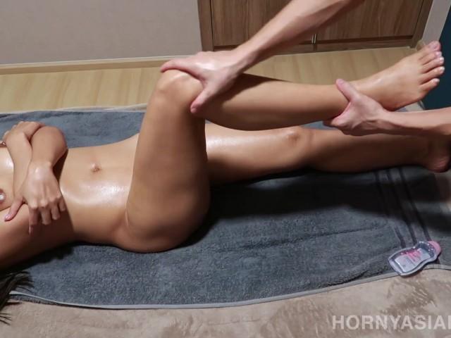 Asian Massage Happy Tugging