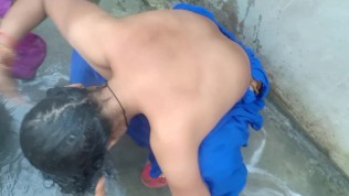 Indian village bathroom saving video