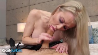 Reality Junkies - Blonde Milf, Katie Monroe wast gonna use toy, but why not a boy toy