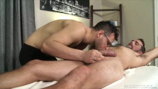 Porn Gay XXX  Sexy Massage Therapist Rides Joe Parker's Dick