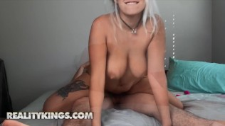 Reality Kings – Naughty Indica Mornoe Won't Stop Sucking & Riding Her Bf's Cock Until He Cums